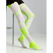 4b851e36d0784 green yellow TIE DYE STOCKINGS 80s fairy witch adult girls teen womens  costume