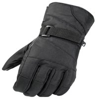 Raider, Adult Leather Palmed Snowmobile Gloves Black Snow Glove