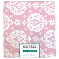 """Waverly Inspiration Fat Quarter 100% Cotton, Small Damask CARN Print Fabric, Quilting Fabric, Craft fabric, 18"""" by 21"""", 140 GSM"""