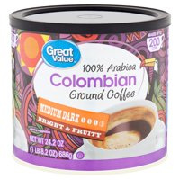 Great Value 100% Arabica Colombian Ground Coffee, 24.2 oz