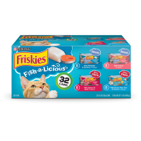 Friskies Fish-A-Licious Adult Wet Cat Food Variety Pack - (32) 5.5 oz. Cans