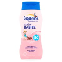 (2 pack) Coppertone Water Babies Sunscreen Lotion SPF 50, 8 fl oz