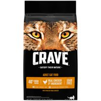 Crave Grain-Free with Protein from Chicken Adult Dry Cat Food, 10 lb