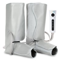 LiveFine Air Compression Leg Pump Wraps - Foot & Calf with Handheld Controller - 2 Modes & 3 Intensities Relieve Fatigue & Improve Blood Flow Circulation