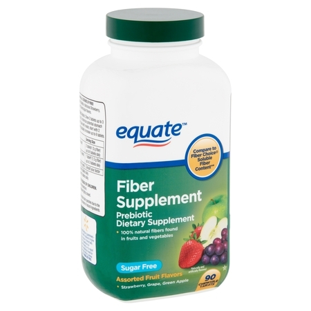 Fiber Systems - Equate Fiber Supplement Assorted Fruit Flavors Chewable Tablets, 90 Count