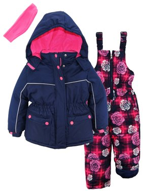 Product Image pink platinum toddler girls super snowsuit ski jacket snowboard floral bib Toddler Girls Coats \u0026 Jackets - Walmart.com