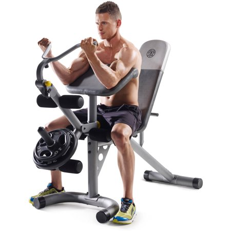 Gold's Gym XRS 20 Olympic Workout Bench with Removable Preacher