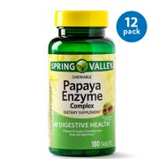 Spring Valley Papaya Enzyme Complex Tablets, 180 Ct