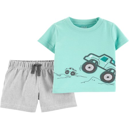Short sleeve t-shirt and shorts, 2 pc set (baby boys) - High Tops For Toddlers