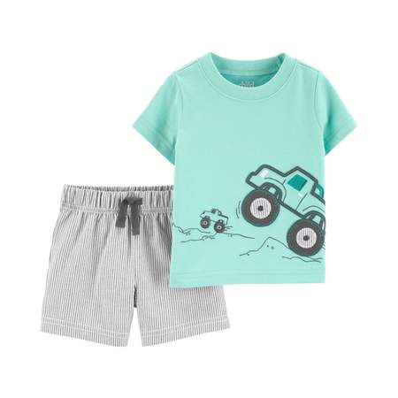 Short sleeve t-shirt and shorts, 2 pc set (baby boys) Baby Boy Fresh Cookies