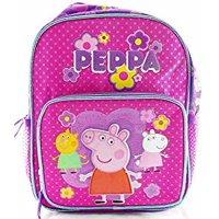 """Mini Backpack - Peppa Pig - Pink w/Friends 10"""" Girls Bag 137636-2"""