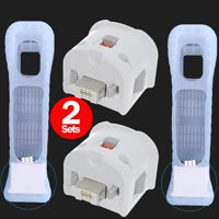 2 Sets Motion Plus MotionPlus Adapter Sensor & Silicon Case Cover for Nintendo Wii Remote Controller