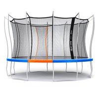 Official Sky Zone x Vuly 14-Foot Trampoline, Self-Closing Door, Blue