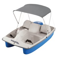 Water Wheeler ASL Electric Pedal Boat with Canopy, Blue