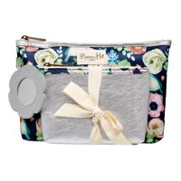 Primrose Hill Makeup Bag 2-piece Clutch Set Rose Floral ($15 Value)