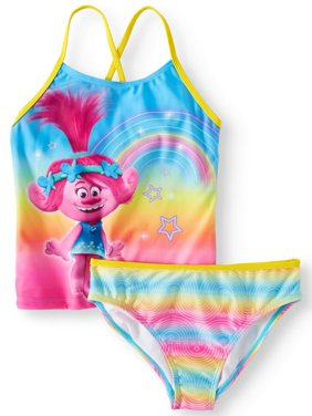 Trolls Rainbow Tankini Swimsuit (Little Girls & Big Girls)
