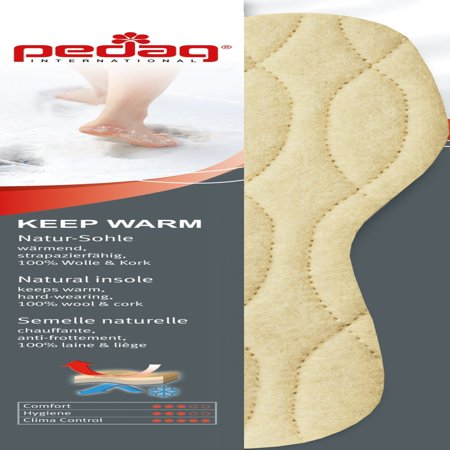 Keep Warm Natural Insoles with Wool, Cork and Felt, US W7/EU37