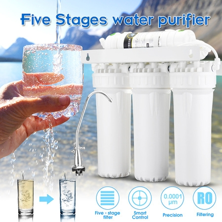 Home 5 Stage Water Filters Drinking Ultra Filtration System UF Purifier Faucet