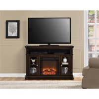 "Ameriwood Home Brooklyn Electric Fireplace TV Console for TVs up to 50"" Espresso"