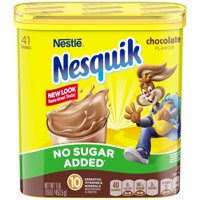 NESQUIK No Sugar Added Chocolate Powder 16 oz. Tub