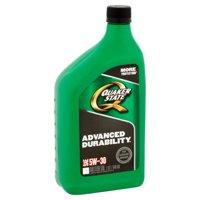 (6 Pack) Quaker State Conventional Advanced Durability SAE 5W-30 Motor Oil 1qt