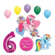 My Little Pony Pinkie Pie And Rainbow Dash 6th Birthday Party Supplies Balloon Decorations