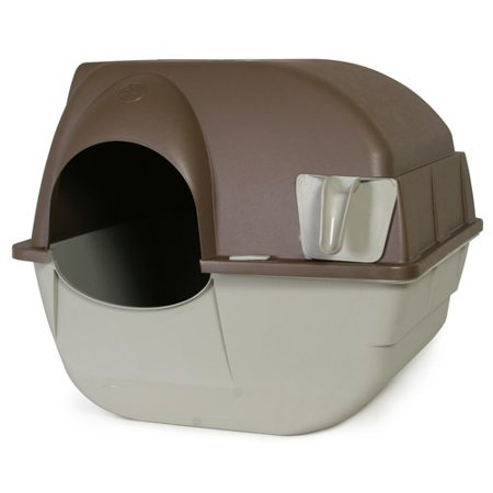 Omega Paw Roll'N Clean Cat Litter Box, - Kitty Litter Box Halloween