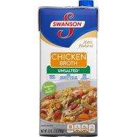 (6 Pack) Swanson Unsalted Chicken Broth, 32 oz.