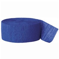 (2 pack) Crepe Paper Streamers, 81 ft, Royal Blue, 1ct