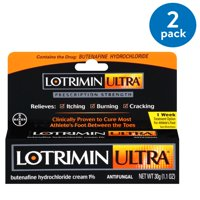 Lotrimin Ultra 1 Week Athlete's Foot Treatment Cream, 1.1 Ounce Tube