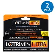 (2 Pack) Lotrimin Ultra 1 Week Athlete's Foot Treatment Cream, 1.1 Ounce Tube