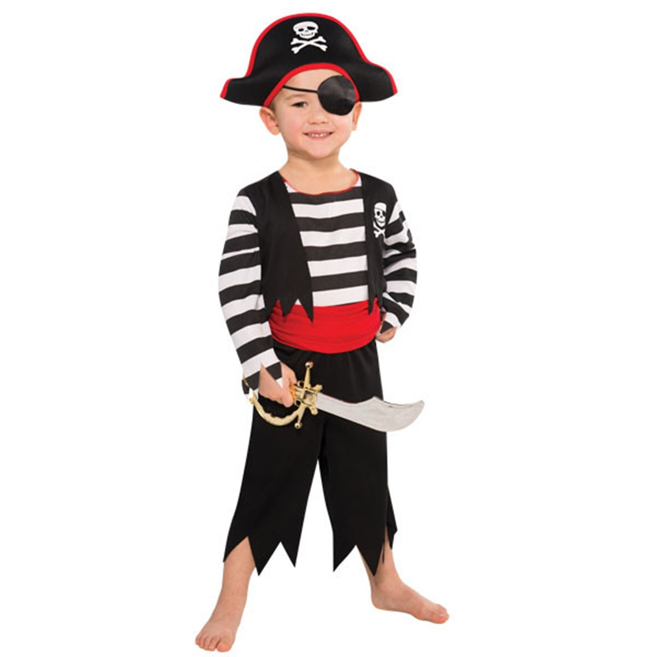 Elegant Rascal Pirate Buccaneer Costume Child Boys 4   6 Small