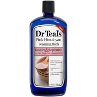 Dr Teal's Pink Himalayan Foaming Bath, Relax & Replenish with Pure Epsom Salt & Essential Oils, 34 Oz