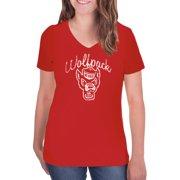 29d6b82e9 NCAA NC State Wolfpack Women's V-Neck Tunic Cotton Tee Shirt