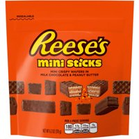 (2 Pack) Reeses' Minis Sticks Crispy Wafer Milk Chocolate & Peanut Butter Bars, 6.3 Oz