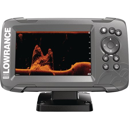 Lowrance 000-14016-001 HOOK-2 5X Fishfinder with GPS Plotter, SplitShot Transducer, DownScan Imaging, Autotuning Sonar & 5
