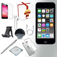 Apple iPod touch 32GB (6th Generation - Latest Model), Assorted Colors + Bluetooth Speaker + Clear Case + Screen Protector + Stand + Stylus Pen + Cloth