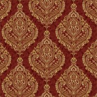 Waverly Inspirations LARGE DAMASK ANTIQUE 100% Cotton Duck Fabric 45'' Wide, 180 Gsm, Quilt Crafts Cut By The Yard