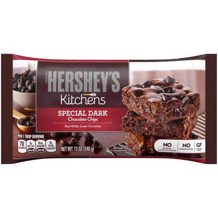 (3 Pack) Hershey's Special Dark, Chocolate Baking Chips, 12 oz - Hershey Dark Chocolate Chips