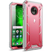 Moto G6 Rugged Case, Poetic Revolution [360 Degree Protection] Full-Body Rugged