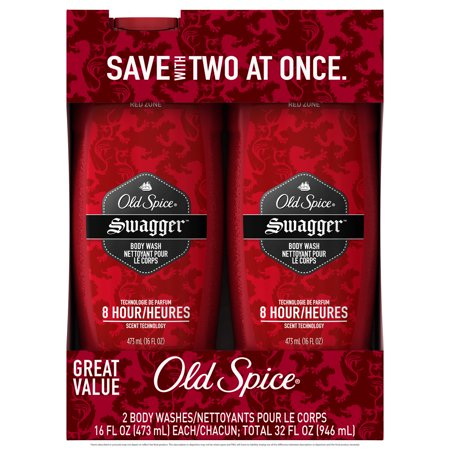 Old Spice Red Zone Swagger Scent Body Wash for Men, 16 oz (Pack of 2)