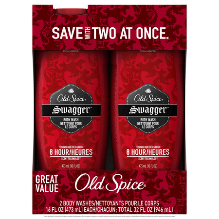 - Old Spice Red Zone Swagger Scent Body Wash for Men, 16 oz (Pack of 2)