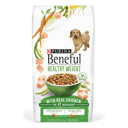 Purina Beneful Healthy Weight With Real Chicken Adult Dry Dog Food - 31.1 lb. Bag (Healthy Dog)