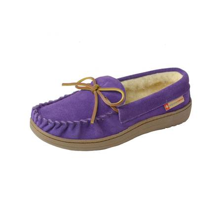Alpine Swiss Sabine Womens Suede Shearling Moccasin Slippers House Shoes Slip On - Hsn Shoes Sale