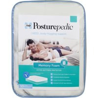 Sealy Posturepedic Cotton Washable Memory Foam Fitted Mattress Protector
