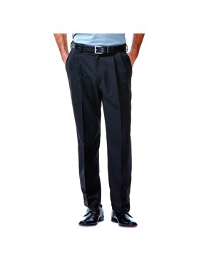Haggar Men's Cool 18® Solid Pleat Front Pant Classic Fit 41114529486