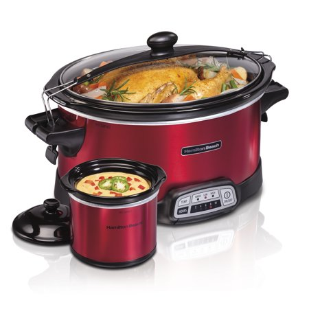 Hamilton Beach 7 Quart Stay or Go Programmable Slow Cooker with Party Dipper | Model#