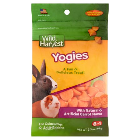 Guinea Pig Fruit Sticks - (2 Pack) Wild Harvest Yogies for Guinea Pigs and Adult Rabbits, 3.5 oz.