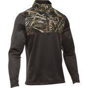 96a33532440c8 under armour men's caliber 1/4 zip fleece pullover, maverick brown, medium -