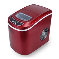 DELLA Electric Ice Maker High Capacity up to 26 Pounds per Day 2 Cube Sizes, Red